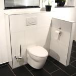 Toilettenabtrennung nach Badsanierung
