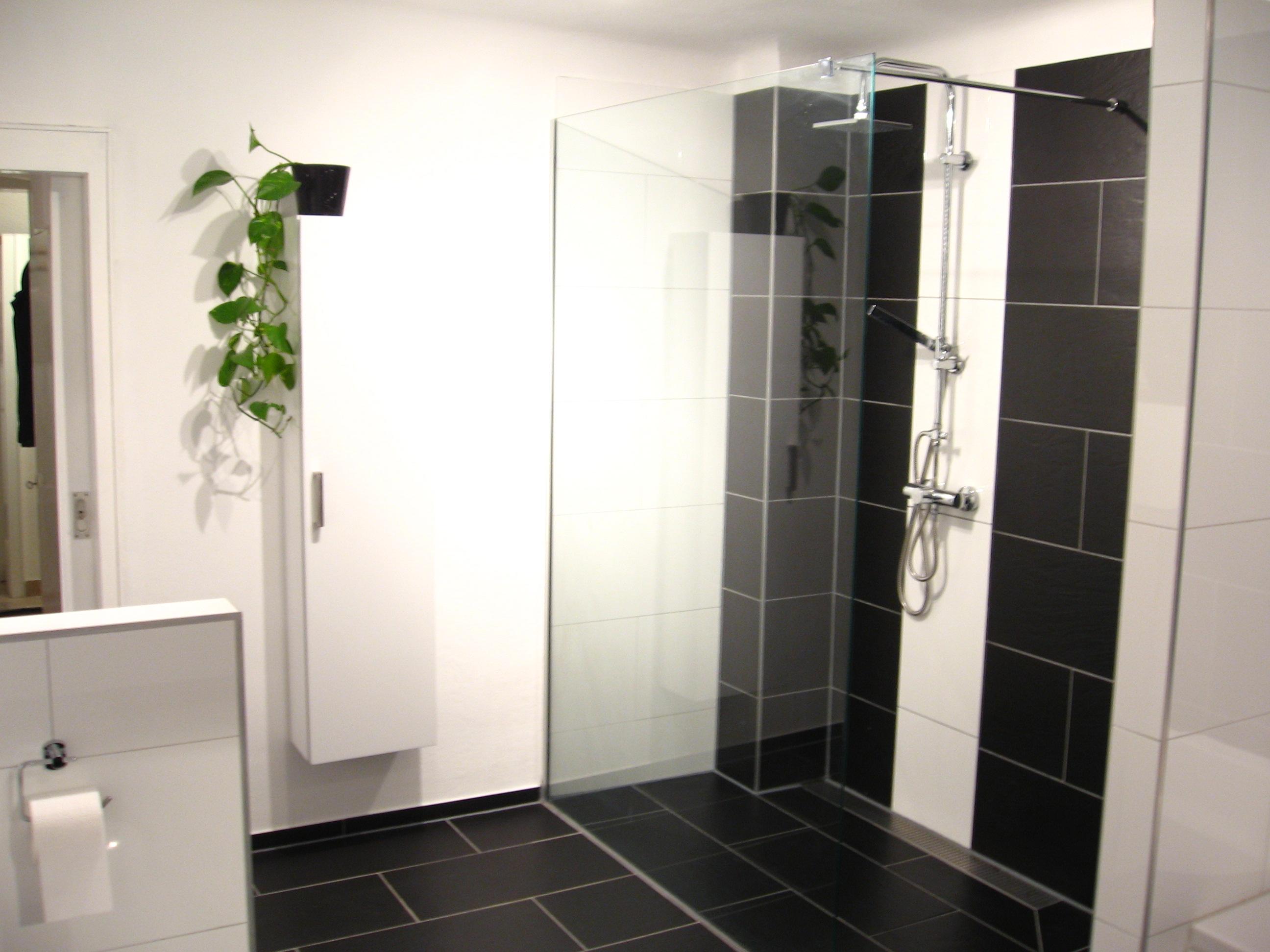 Badsanierung schwarz/weiß