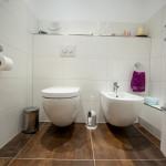 Toilette und Wandbidet